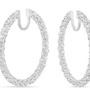 Jewelry - Sparkling 8.50 carats diamonds ladies HOOP earring